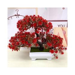 Kunstbonsai Kiefer, Gotui, Höhe 18 cm, Realistische Kiefer Bonsai Simulation Pflanze Wohnkultur