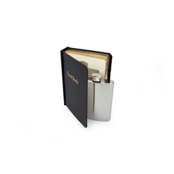 SuckUK Flachmann Flachmann 120 ml im Buch - Good Book - Taschenflasche und Buch-Versteck im Set