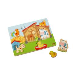 """Haba Steckpuzzle HABA 303179 Greifpuzzle mit Geräuschen """"Auf dem, Puzzleteile"""
