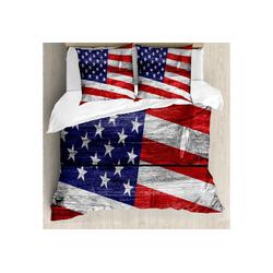 Bettwäsche Milbensicher Allergiker geeignet mit Kissenbezügen, Abakuhaus, Patriotisch America Patriotic Day 155 cm x 220 cm
