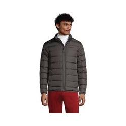 600er Daunen-Jacke, Herren, Größe: XL Normal, Grau, by Lands' End, Dunkelgrau - XL - Dunkelgrau