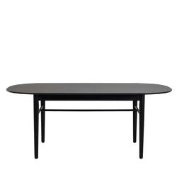 Schwarzer Tisch oval Skandi Design