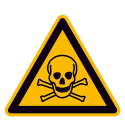 Warnschild Giftige Stoffe Aluminium 100mm ISO 7010 1St.