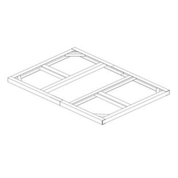 Tepro Metall-Unterkonstruktion Pent Roof 6x4