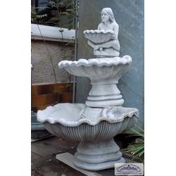 SA-N20 Wandbrunnen mit 3 Wasserschalen und Figur 102cm 155kg Beton Steinguss Brunnen