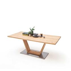 Tisch aus Balkeneiche V-Säule