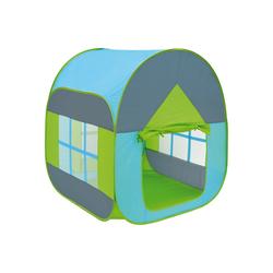 LittleTom Spielzelt Bällebad Spielzelt Popup Spielhaus Kinder-Zelt 90x90x110cm Blau Baby