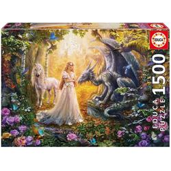 Educa Puzzle. Dragon Princess and Unicorn 1500 Teile