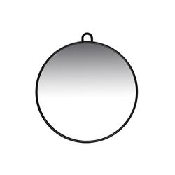 Friseurmeister Spiegel Spiegel 27cm - in Schwarz - Friseurbedarf, Friseurbedarf Zubehör Tragbarer Hand Friseurspiegel mit Griff und Haken zum Aufhängen für Salons, Barber, Zuhause und co.