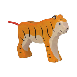 Holztiger Sammelfigur Tiger, stehend