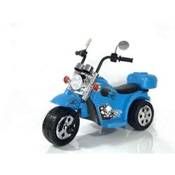 Kinder Elektro Polizei Motorrad Fahrzeug Kindermotorrad Akku Harley Motorrad Elektromotorrad... Blau