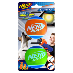 Nerf Dog LED TPR Tennisbälle 2er-Set