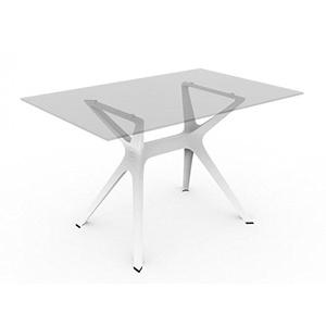 Blanke Design Vela Esstisch, Glas, Weiß, 120 x 80 x 74 cm