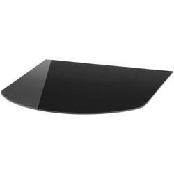 Glasbodenplatte Halbrundbogen, für Kaminöfen, 85 x 100 cm, schwarz schwarz