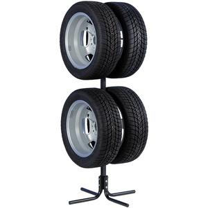 Unitec 10905 Felgenbaum und Reifenbaum für 4 PKW-Felgen oder Reifen, platzsparend in Garage und Keller, für Reifen/Felgen von 10 - 43,2 cm (17 Zoll)