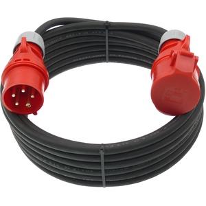 netbote24® CEE Starkstrom Verlängerungskabel 16A 5-polig H07RN-F 5x1,5mm2 IP44 Außenbereich 5-50m (50m)