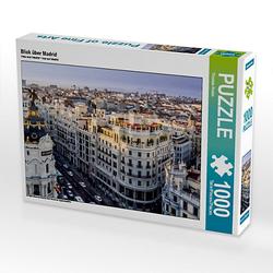 Blick über Madrid Lege-Größe 64 x 48 cm Foto-Puzzle Bild von Thomas Krebs Puzzle