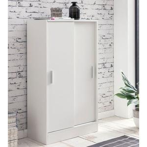 Wohnling Aktenschrank WL5.817 Holz 60 x 107,5 x 28,5 cm Weiß, Design Mehrzweckschrank, Büroschrank Modern