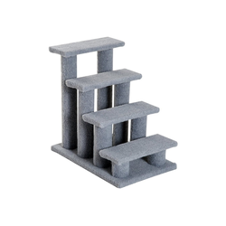 PawHut Kratzbaum Katzentreppe mit 4 Stufen grau