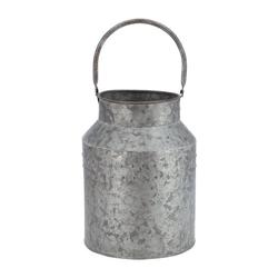 Vosteen Blumentopf Metallkanne MILK grau aus Metall Milchkanne Pflanztopf Farmhouse Dekokanne