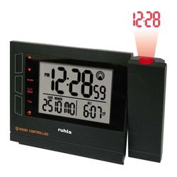 UMR Ruhla Projektionswecker Funkwecker mit Projektion schwarz RC-Clock 1561-1