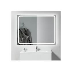 kalb Badspiegel kalb LED Spiegel PIA 60x80 cm Badspiegel beleuchtet Lichtspiegel Badezimmer Wandspiegel Aluminium