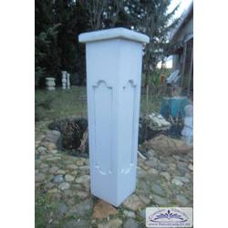 S108 Pfeiler Zaunpfeiler Balustradenpfeiler Betonpfeiler aus Weissbeton frostfest 23x23cm 104cm 100kg