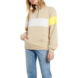 Volcom - Short Staxx Pullover Pale Khaki - Sweatshirts - Größe: S