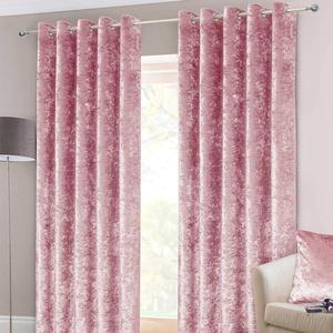 Homescapes Samtvorhänge, rosa, Ösenvorhang aus Pannesamt im 2er Pack, blickdichte Samt-Gardinen, zartrosa, 228 x 137 cm
