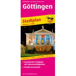Göttingen. Stadtplan 1:14 000