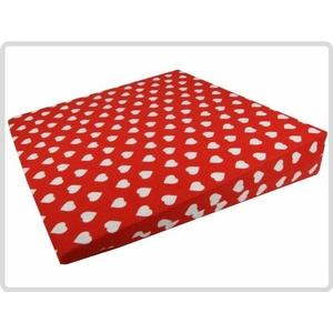 Orthopädisches Keilkissen 100 % Baumwollbezug! - Rot mit weißen Herzen - Kissen Sitzkissen Sitzkeilkissen Sitzkissen Sitzkeil