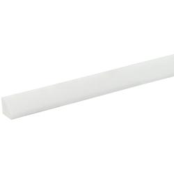 BODENMEISTER : Sockelleiste Biegeleiste Viertelstab weiß, flexibel, biegbar, Höhe: 1,5 cm weiß