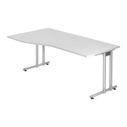 Lüllmann Schreibtisch Freiformtisch Schreibtisch New York 720 x 1800 x 1000/800 mm C-Fuß Design