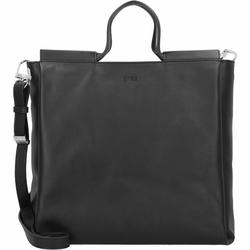 Bree Pure 9 Handtasche Leder 34 cm black