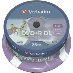 Verbatim 43667 DVD+R DL Rohling 8.5GB 25 St. Spindel Bedruckbar