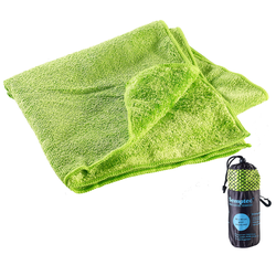 Mikrofaser-Handtuch, 2 versch. Oberflächen, 80 x 40 cm, grün