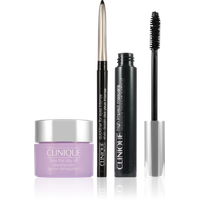Clinique High Impact  Black + Cream Shaper For Eyes Black Diamond + Serum All About Eyes + Tasche pink Set