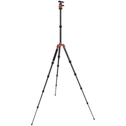 Rollei Fotopro Compact Traveller No.1 Carbon orange Stativhalterung