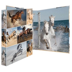 HERMA Animals Pferde Ringbuch 4-Ringe Motiv 3,5 cm DIN A4