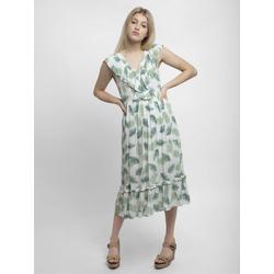 Apart Sommerkleid mit Palmblätter-Print mit Palmblätter-Print 36