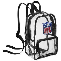 NFL Mini Fan Rucksack durchsichtig BPCLRNFMININFLKB - Größe:Einheitsgröße