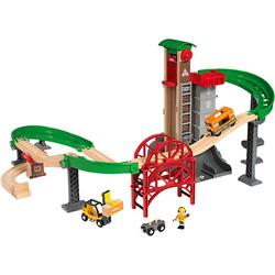 Großes Lagerhaus-Set mit Aufzug