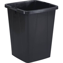 Abfalltonne schwarz 90l