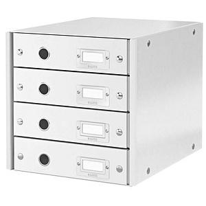 LEITZ Schubladenbox Click & Store weiß DIN A4 mit 4 Schubladen