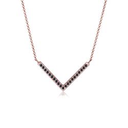Elli Elli Halskette V-Kette Swarovski® Kristalle 925 Silber