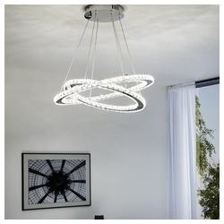 click-licht LED Pendelleuchte LED Pendelleuchte mit Kristallglas, mit zwei Ringe, Hängeleuchte, Pendellampe, Pendelleuchte