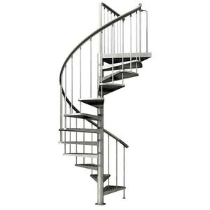 Dolle Außenspindeltreppe Gardenspin 0409333 (Durchmesser: 125 cm, Geschosshöhe: 246 - 282 cm, Anzahl Steigungen: 12 Stk.)