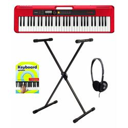 Casio CT-S200 RD Keyboard Starter Set Rot