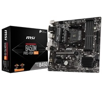 MSI B450M PRO-VDH MAX AMD AM4 DDR4 m.2 USB 3.2 Gen 2 HDMI Micro-ATX Motherboard