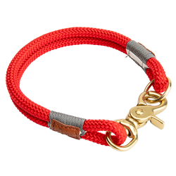 HUNTER Hundehalsband Oss rot, Breite: 2 x Ø ca. 8 mm, Länge: ca. 35 cm - ca. 35 cm
